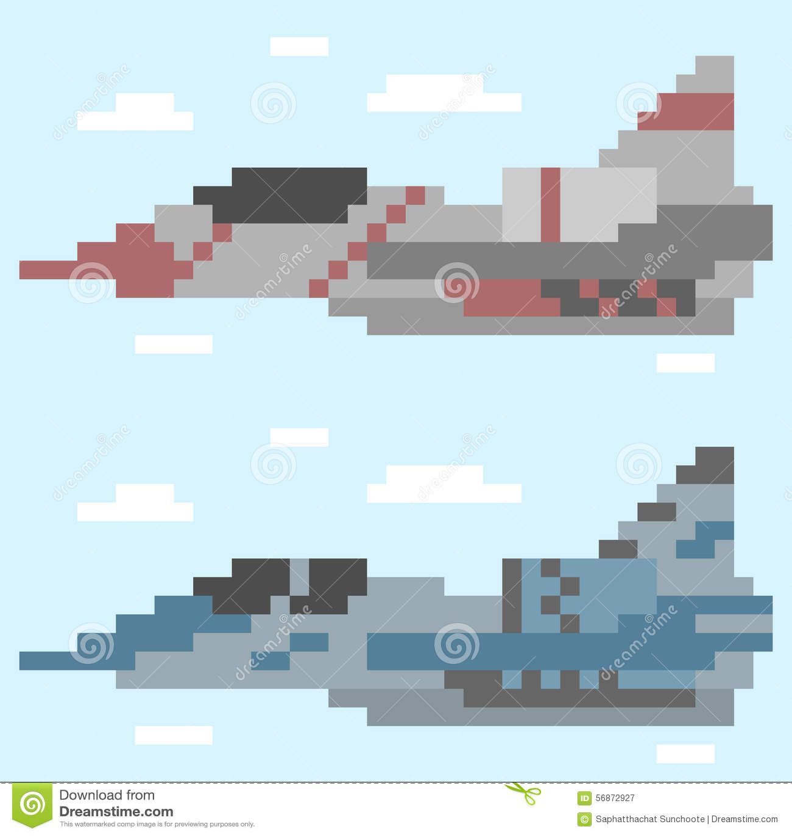 avion d 39 art de pixel d 39 illustration illustration de vecteur illustration du nuages warplane. Black Bedroom Furniture Sets. Home Design Ideas