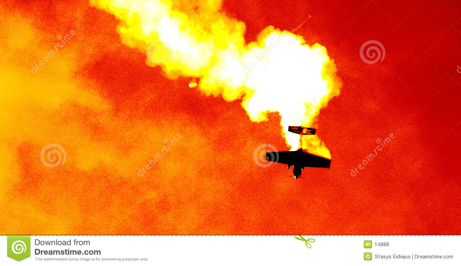 Avion dans le nuage de la fumée III