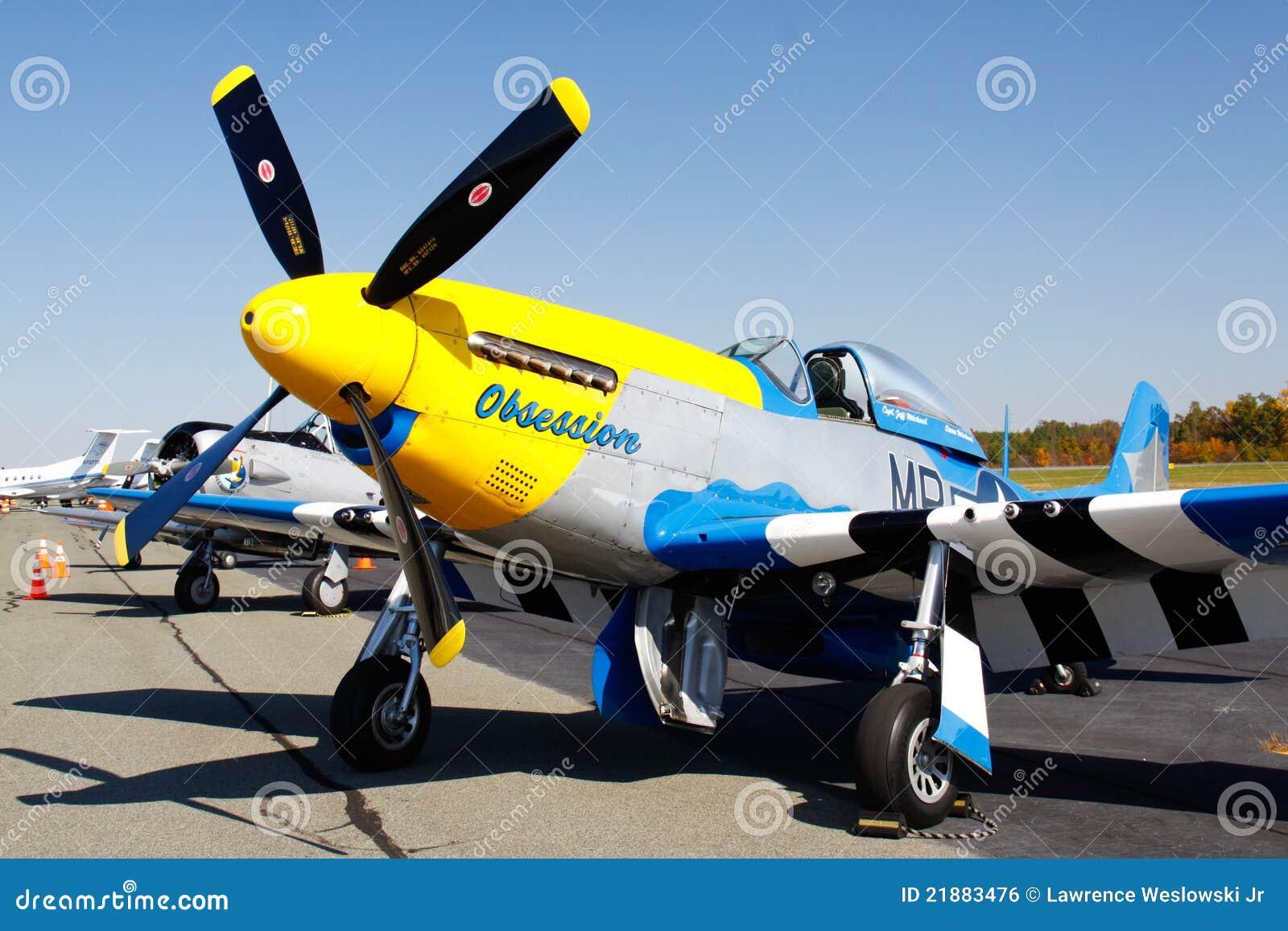 Avion de combat de mustang de P-51D sur l affichage
