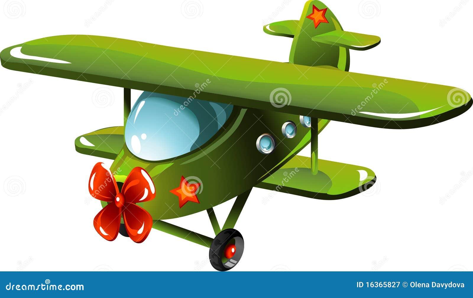 Avion de dessin animé
