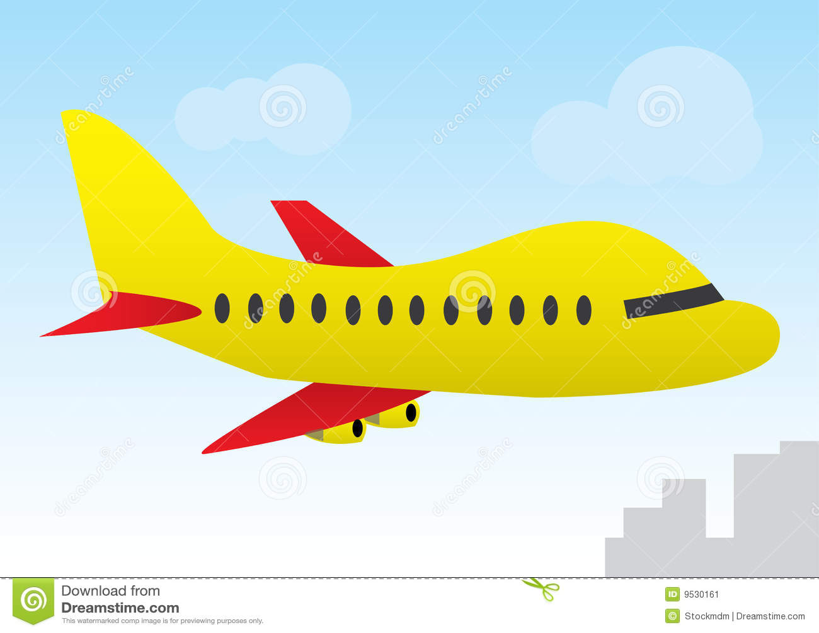 Avion de dessin anim image stock image 9530161 - Avion en dessin ...