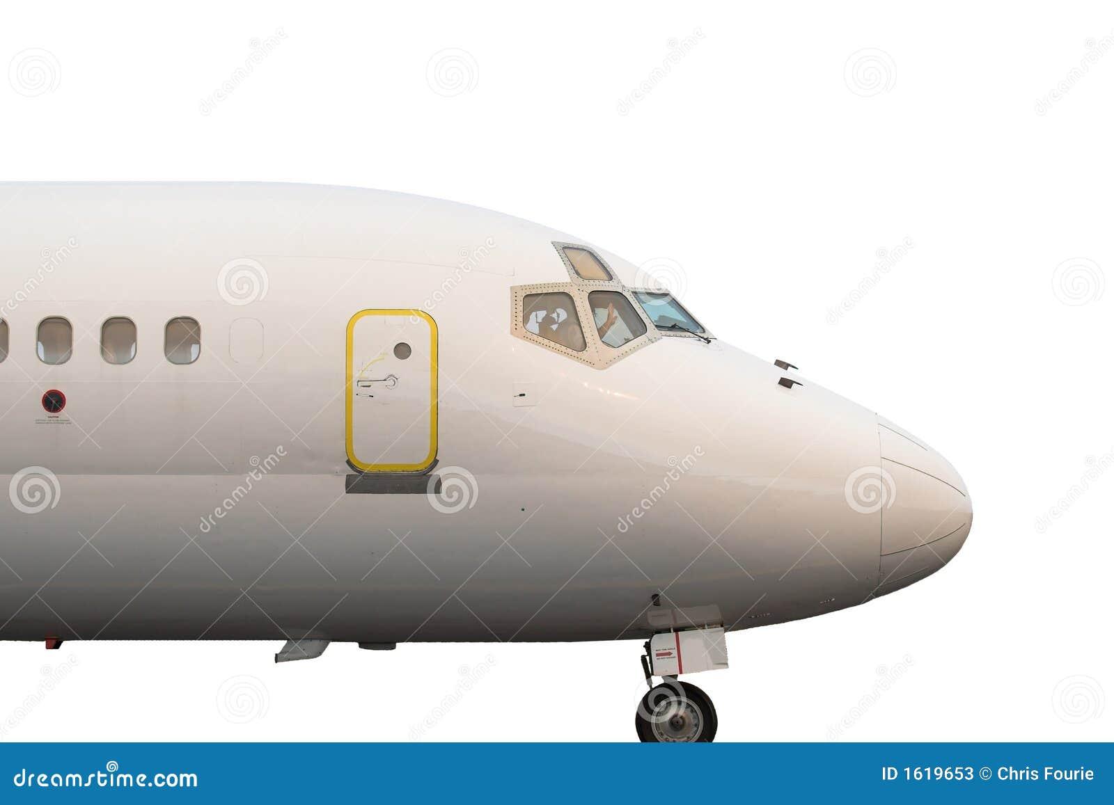 Avion de ligne à réaction d isolement