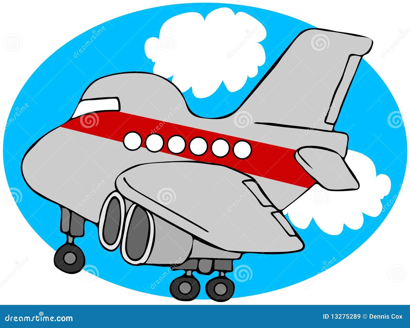 Avion de ligne dessin animé illustration stock
