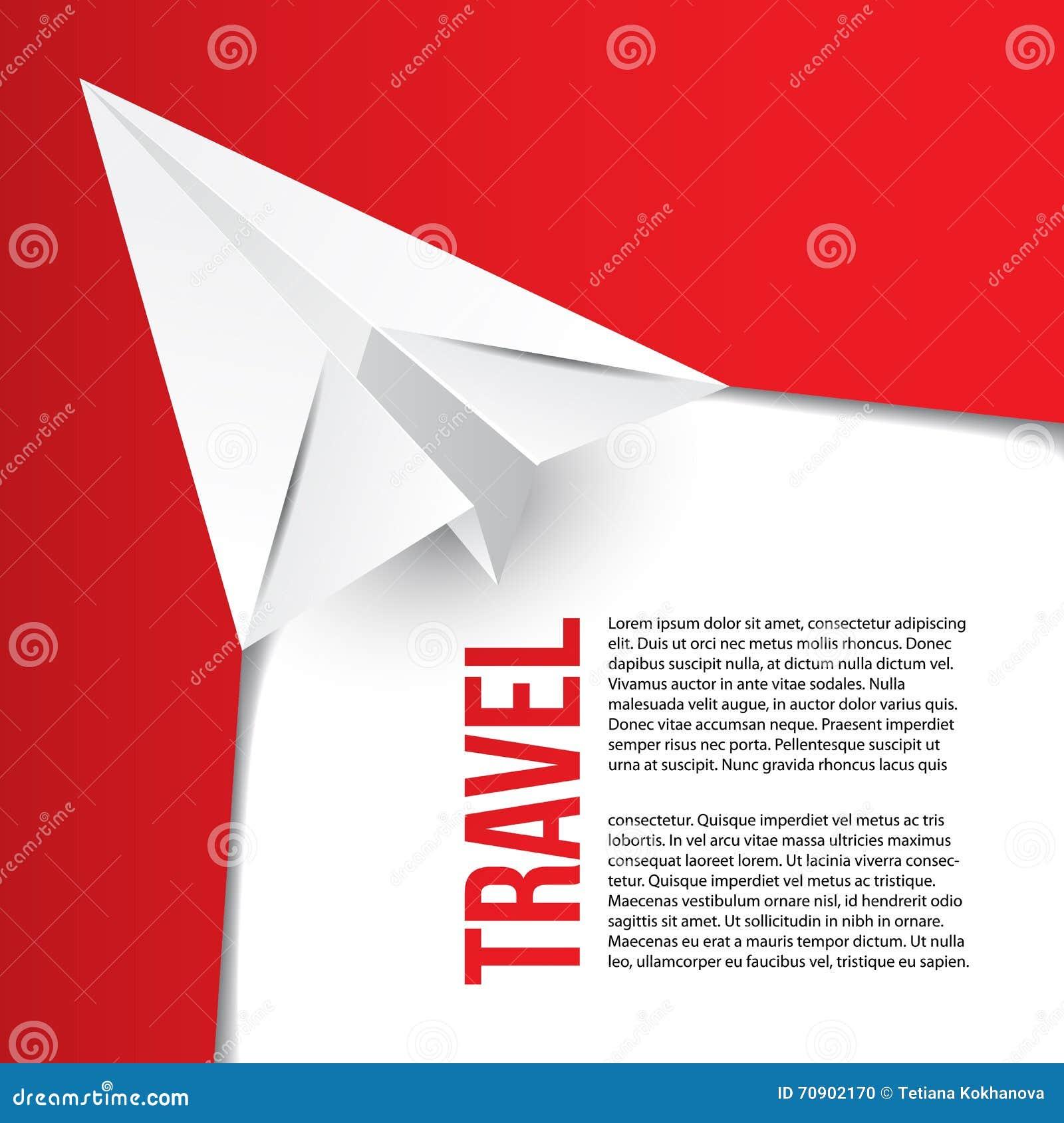 Avion De Papier D Origami Vol Concept Chaud Visites Peut Tre Employ Pour L