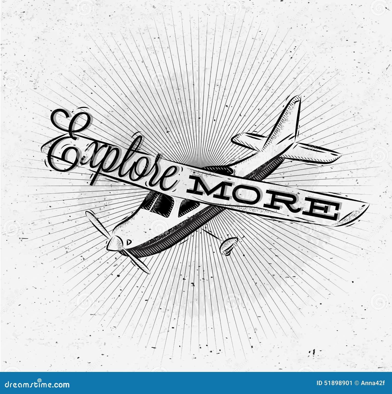 Avion de touristes d affiche