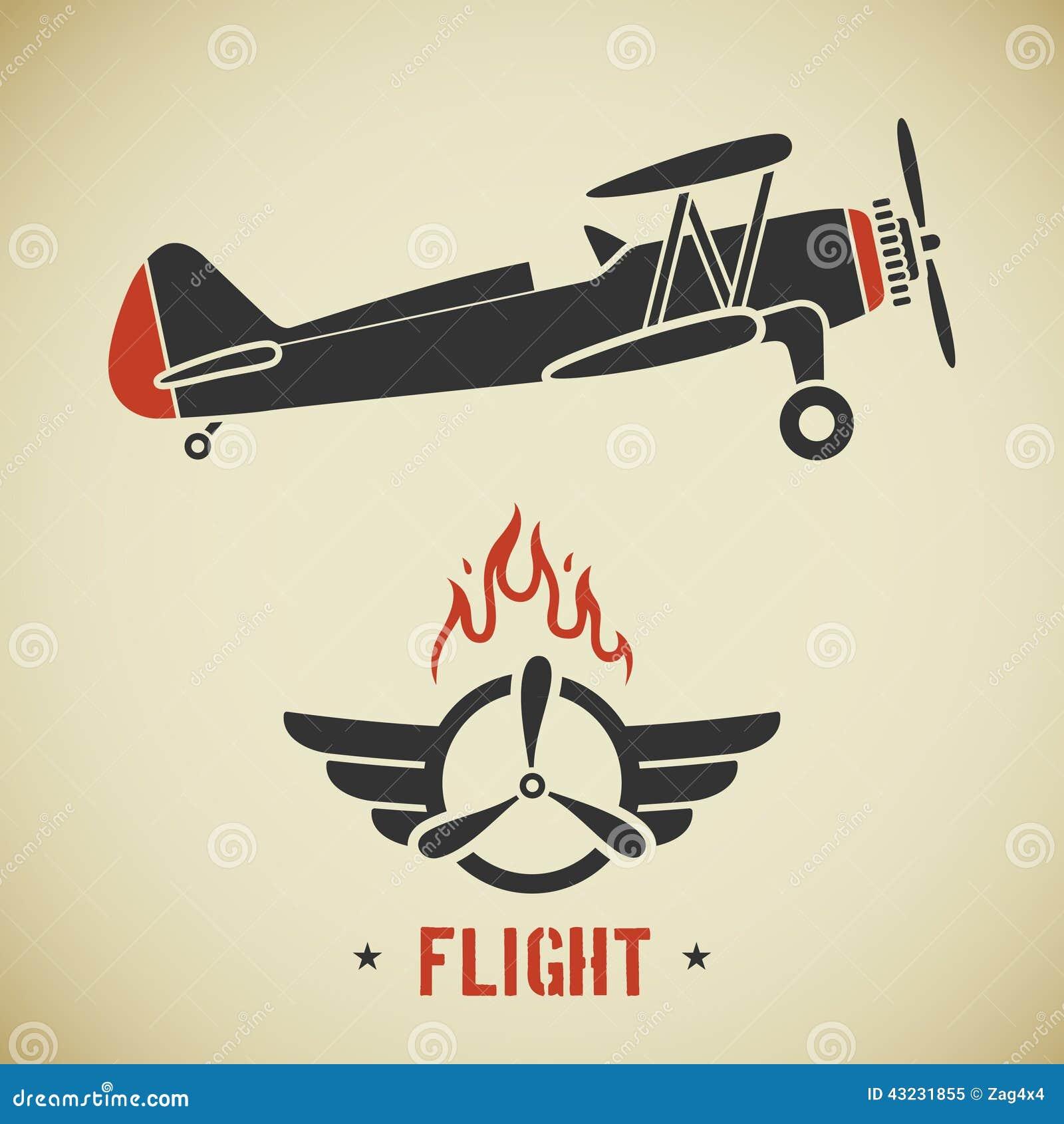 avion de vintage illustration stock image 43231855