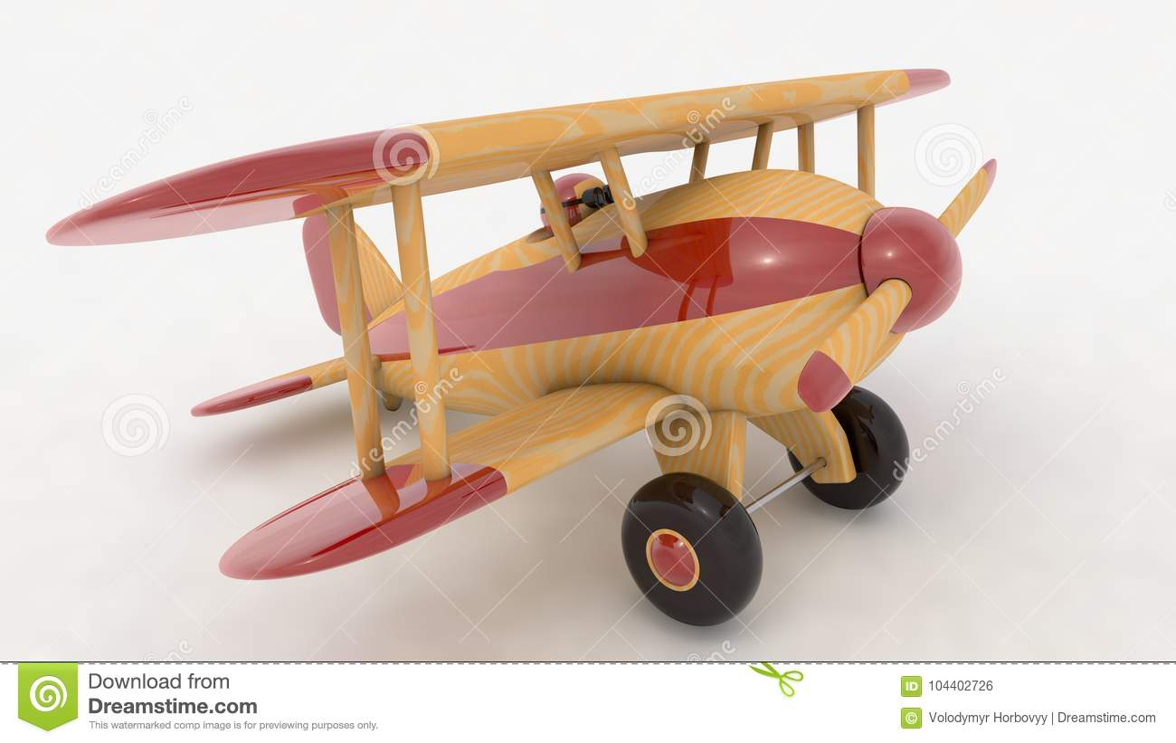 Rendent Bois De Illustration Stock Avion Jouet 3d En n0kw8OPX