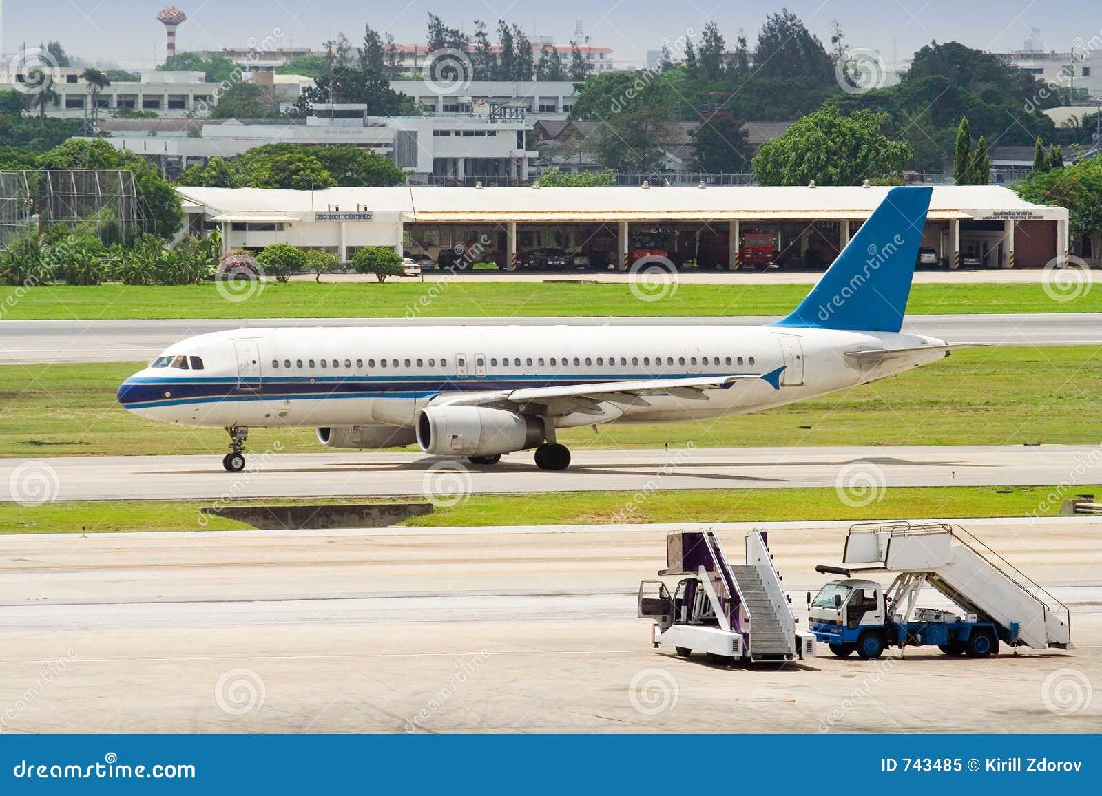 Avion juste embarqué