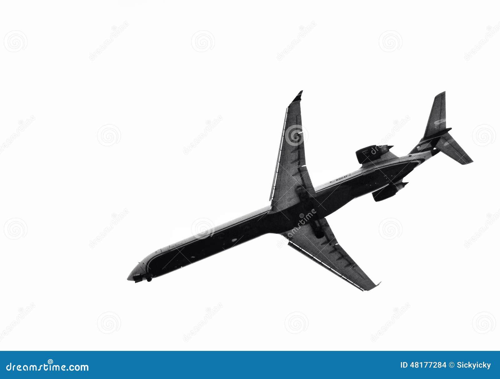 avion noir et blanc photo stock image du blanc noir 48177284. Black Bedroom Furniture Sets. Home Design Ideas