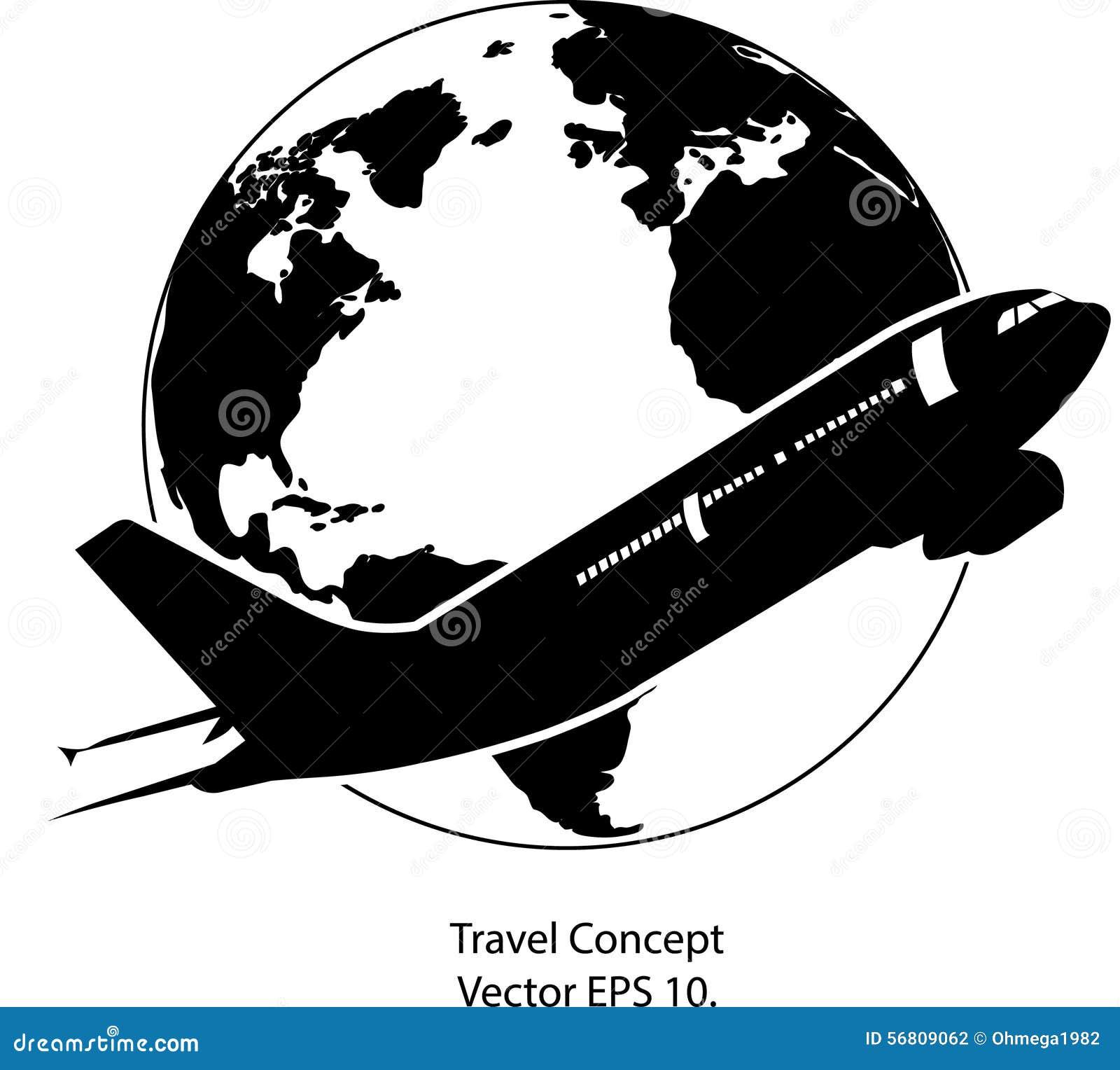 Avion Pour Le Voyage Autour De L'icône D'illustration De ...