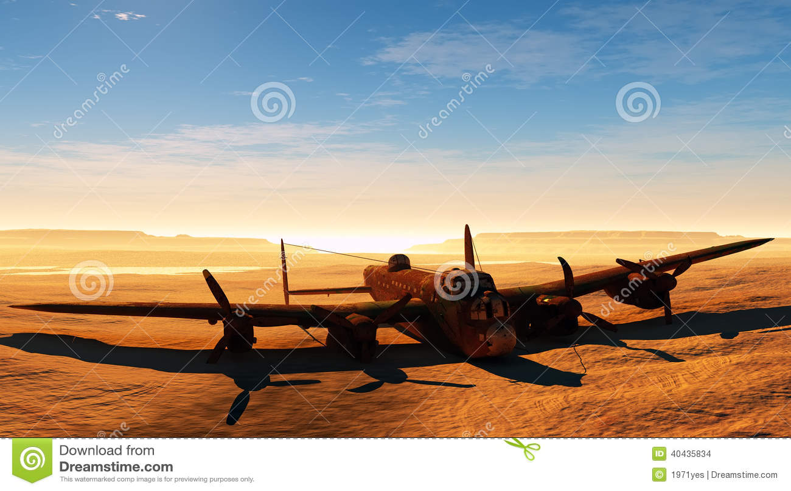 Avion rouillé