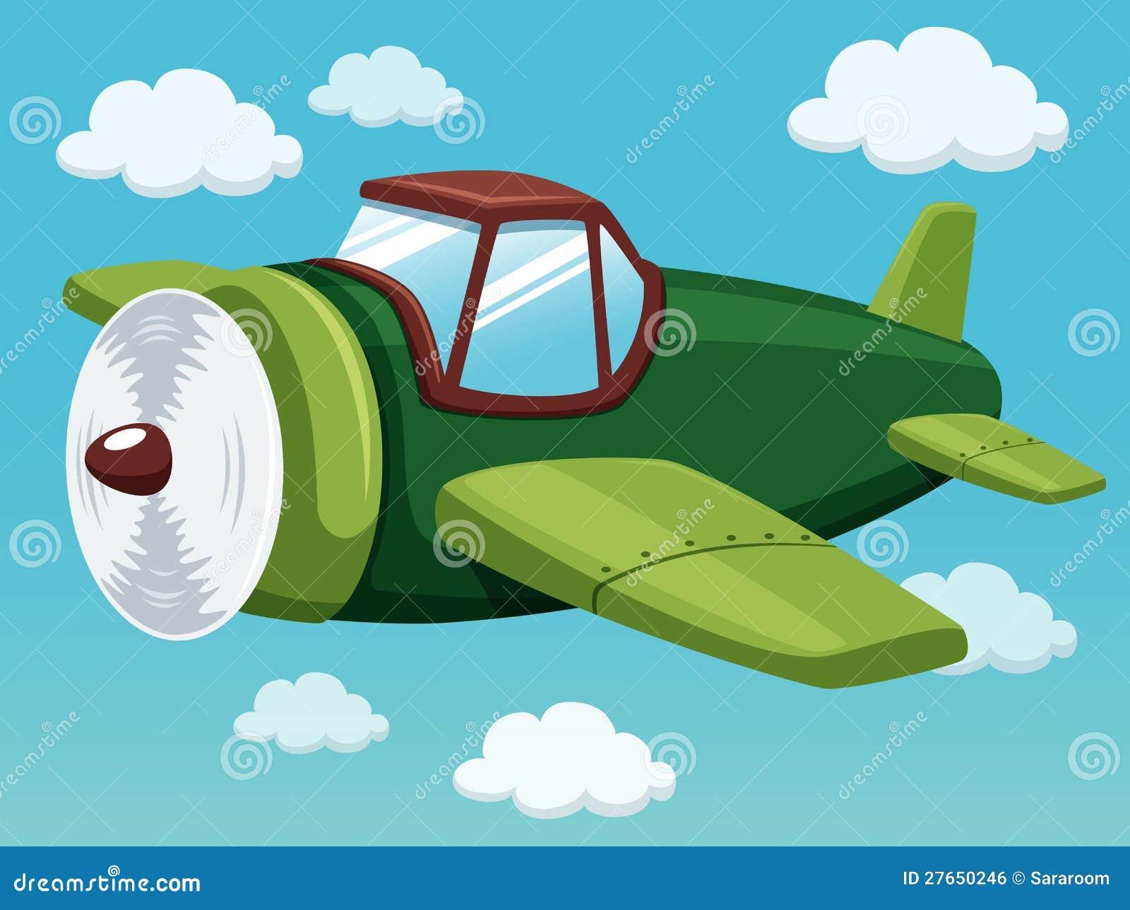 Avion sur le ciel