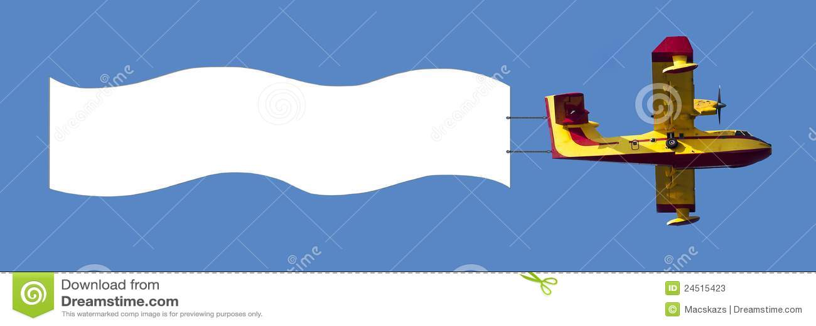 avion tirant le drapeau blanc d 39 annonce photos stock image 24515423. Black Bedroom Furniture Sets. Home Design Ideas