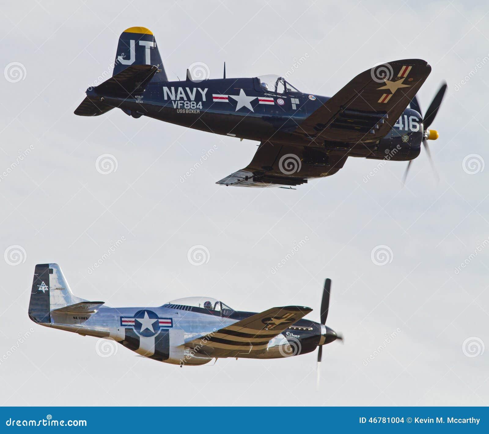 Aviones De La Segunda Guerra Mundial Del Vintage Imagen De