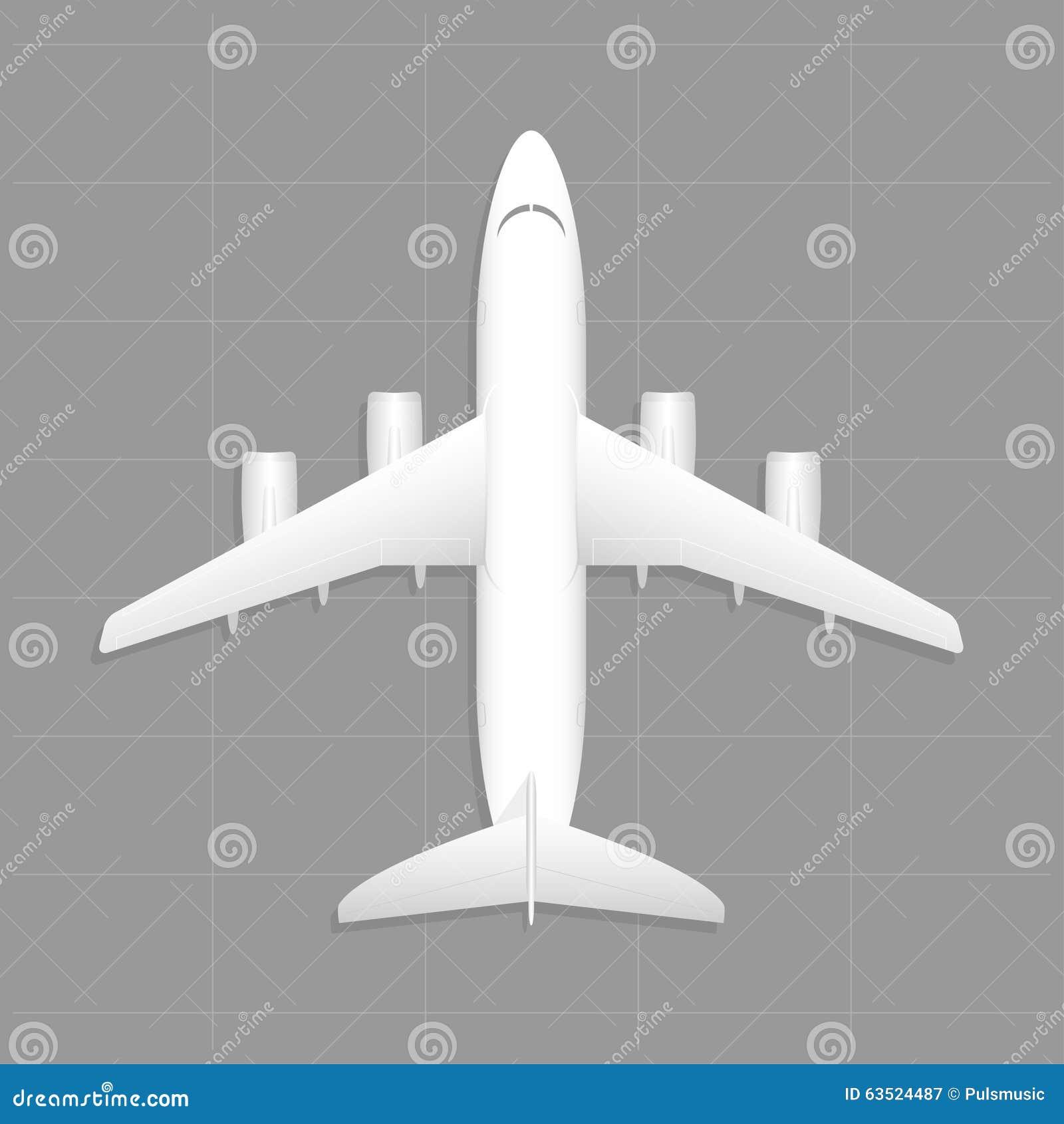 Aviones del cargo Visión superior