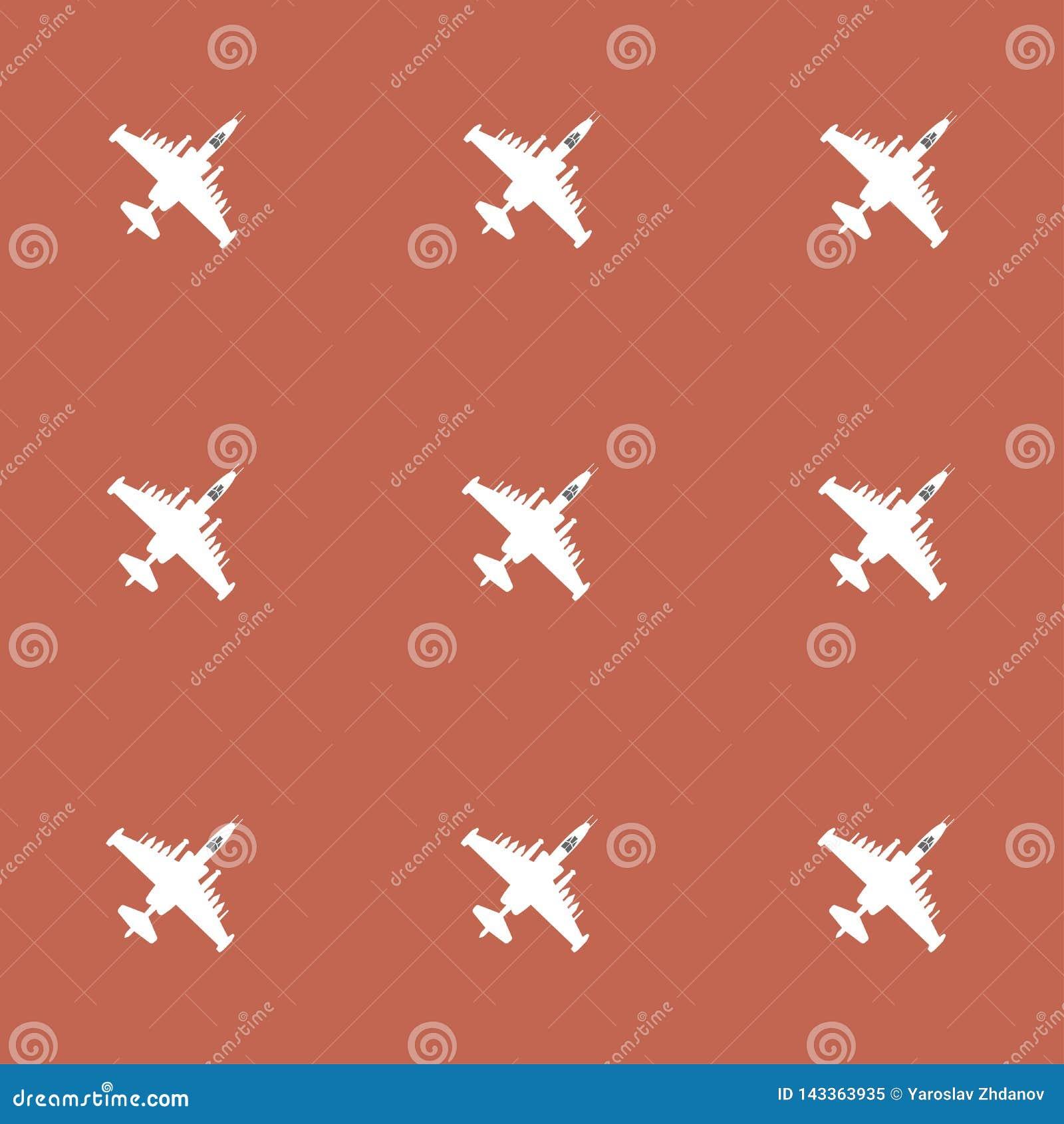 Avions D Attaque Modele Sans Couture Sur Un Fond Jaune Dessins De Vecteur Illustration De Vecteur Illustration Du Dessins Jaune 143363935