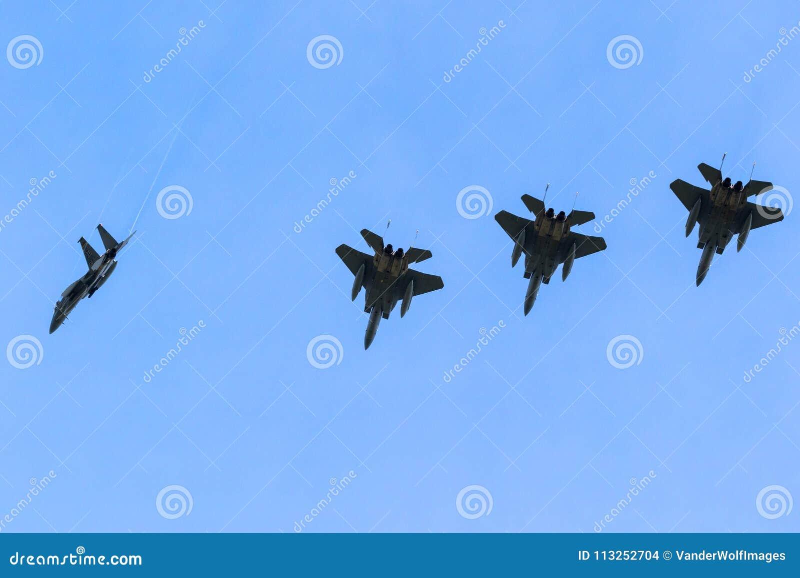 Avions de combat de l U.S. Air Force F15 Eagle