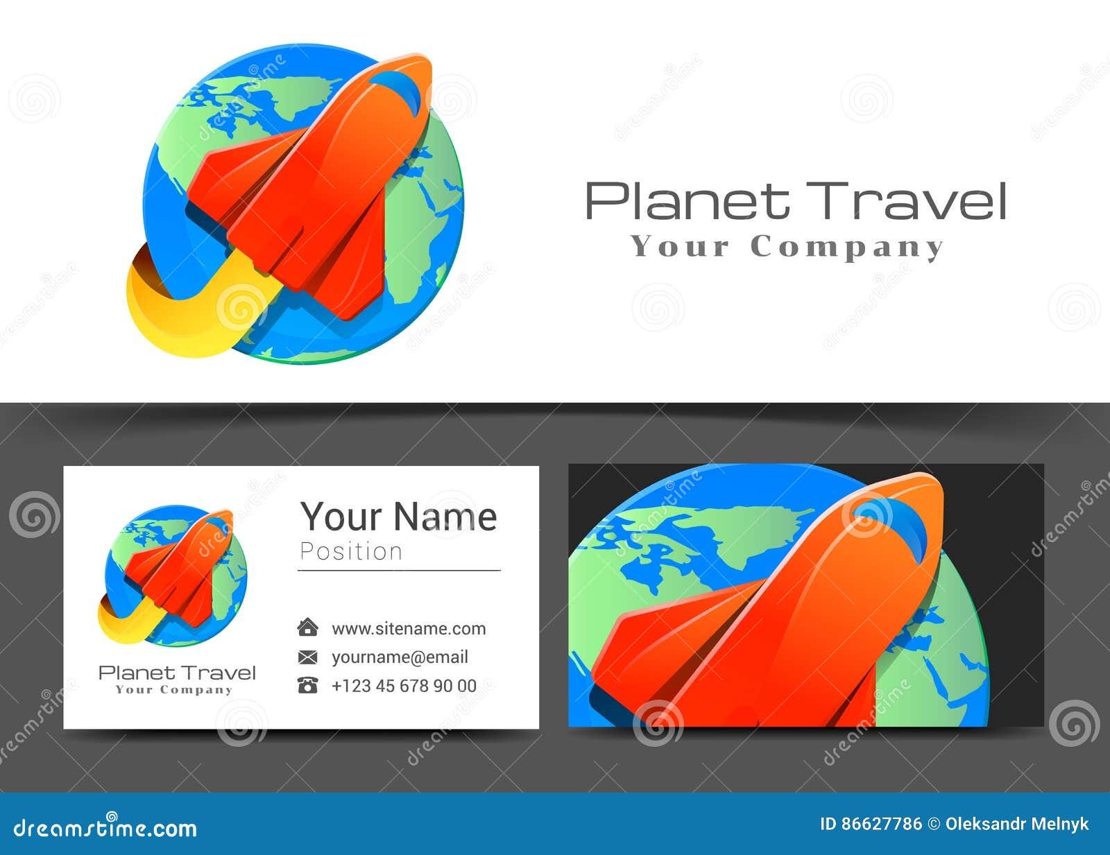 Avions Plats Art Corporate Logo De Ligne Arienne Et Signe Carte Visite Professionnelle