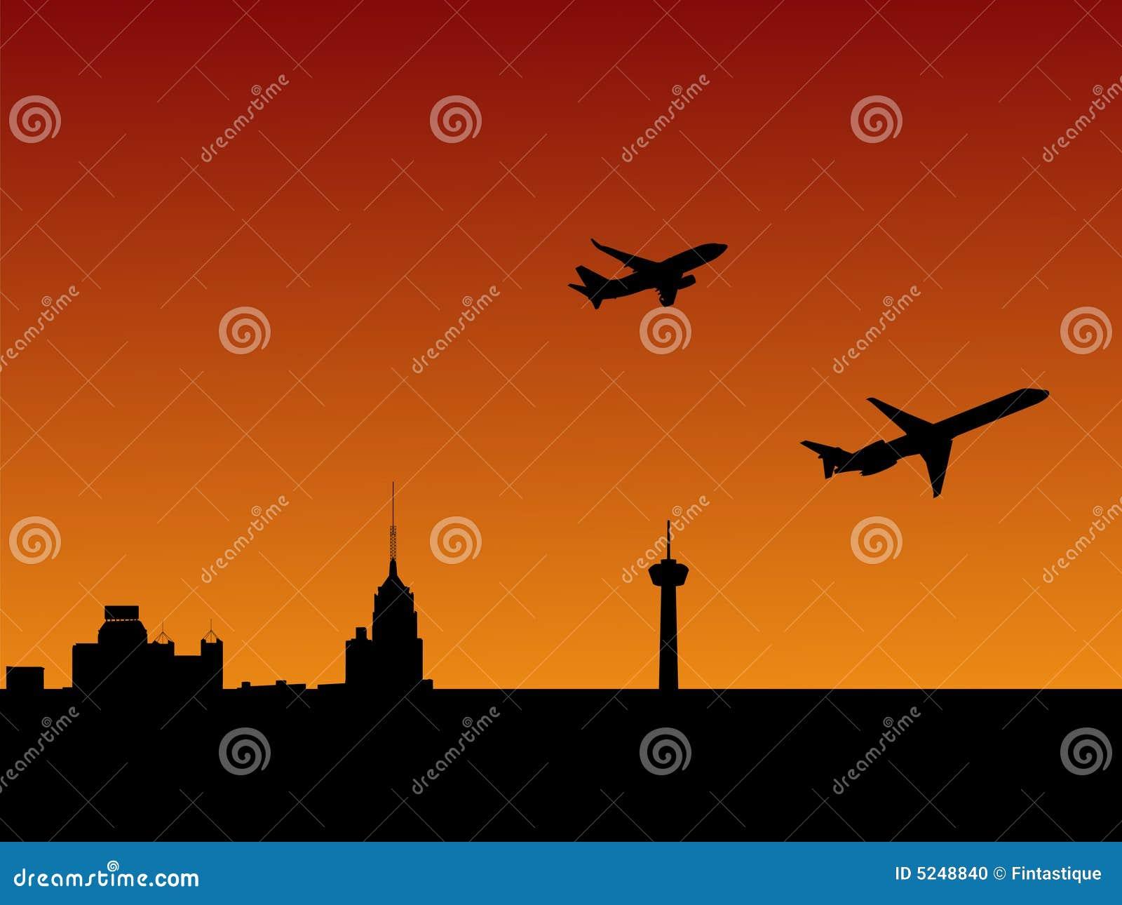 Avions San Antonio de départ