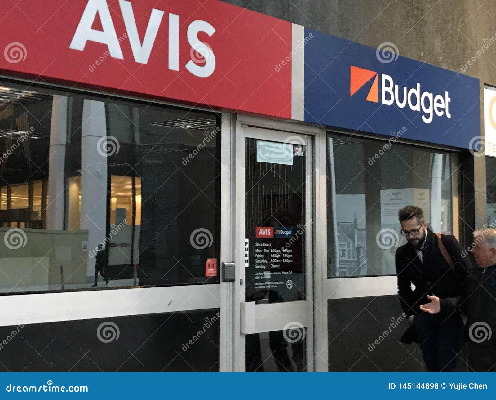 Avis Budget store, London