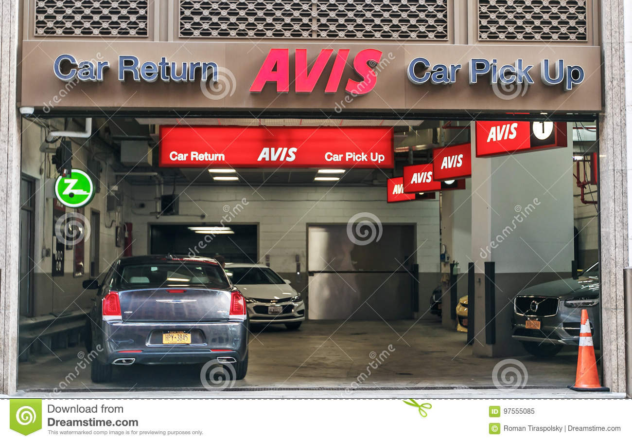 Car Rental Manhattan >> Avis Rental Car Branch Editorial Image Image Of Auto 97555085