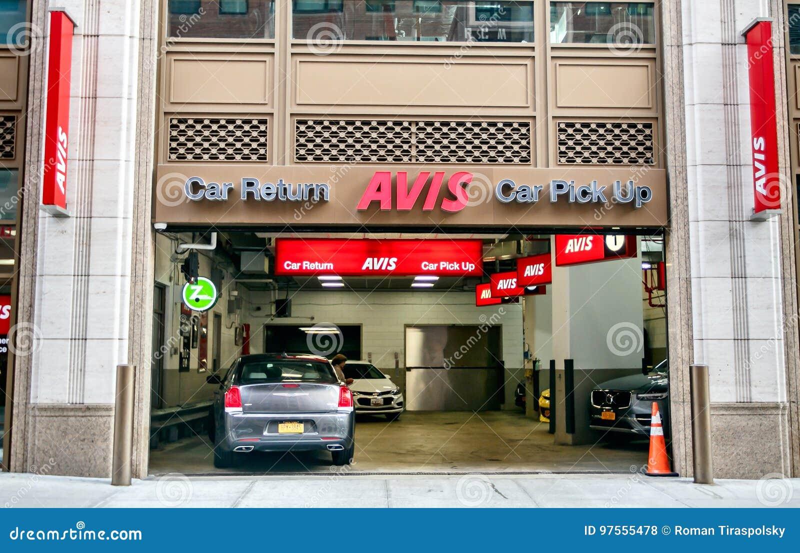 Car Rental Manhattan >> Avis Rental Car Branch Editorial Stock Photo Image Of Avis 97555478