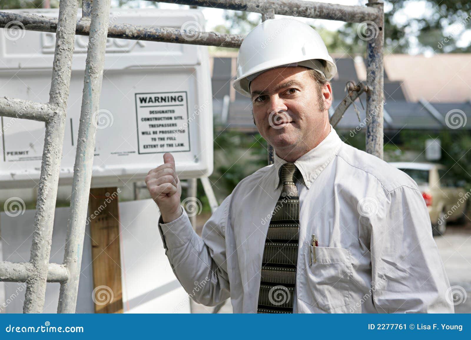 Aviso do inspector de edifício