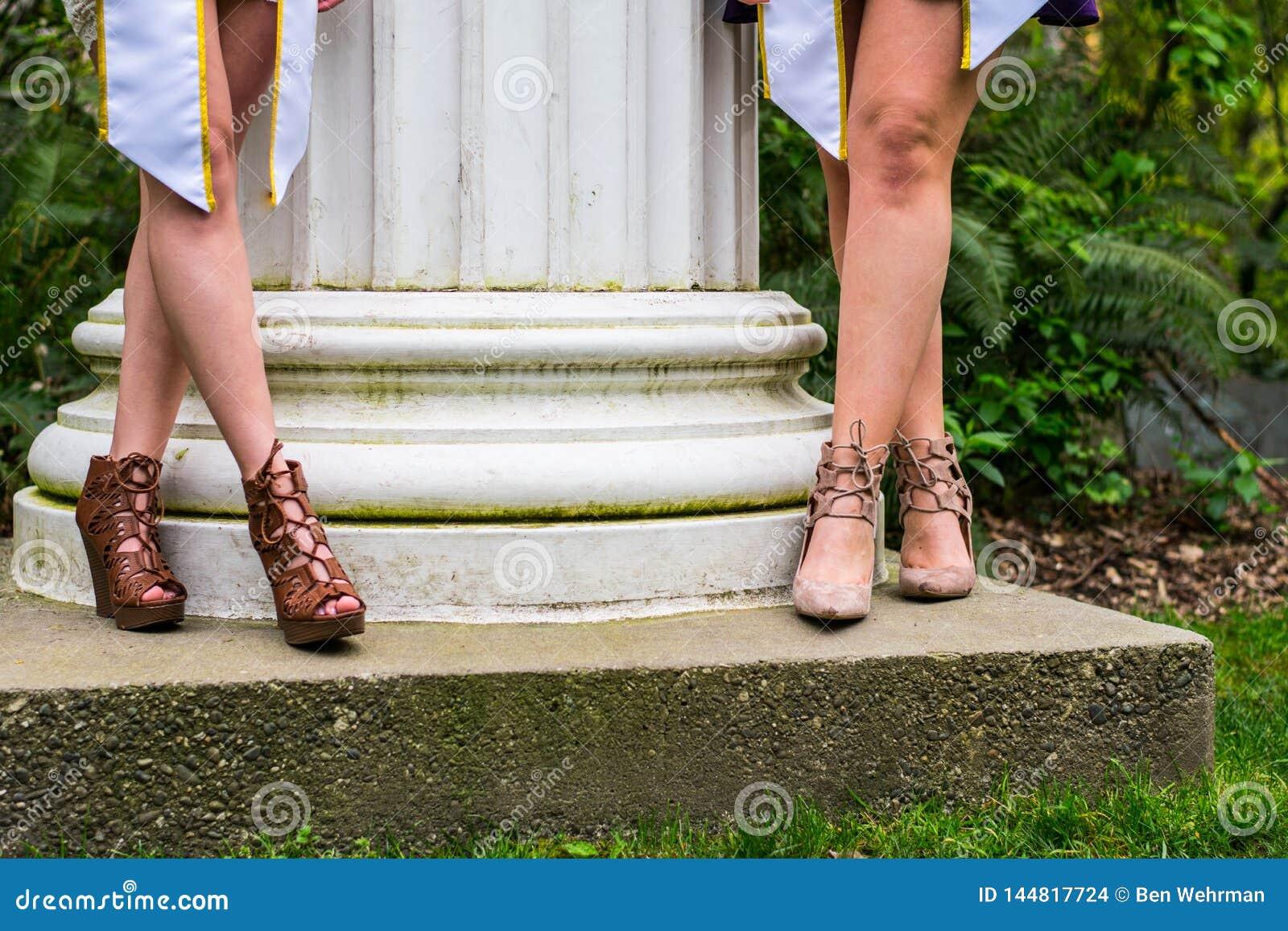 Avlägga examen för kvinnoföreningflickor