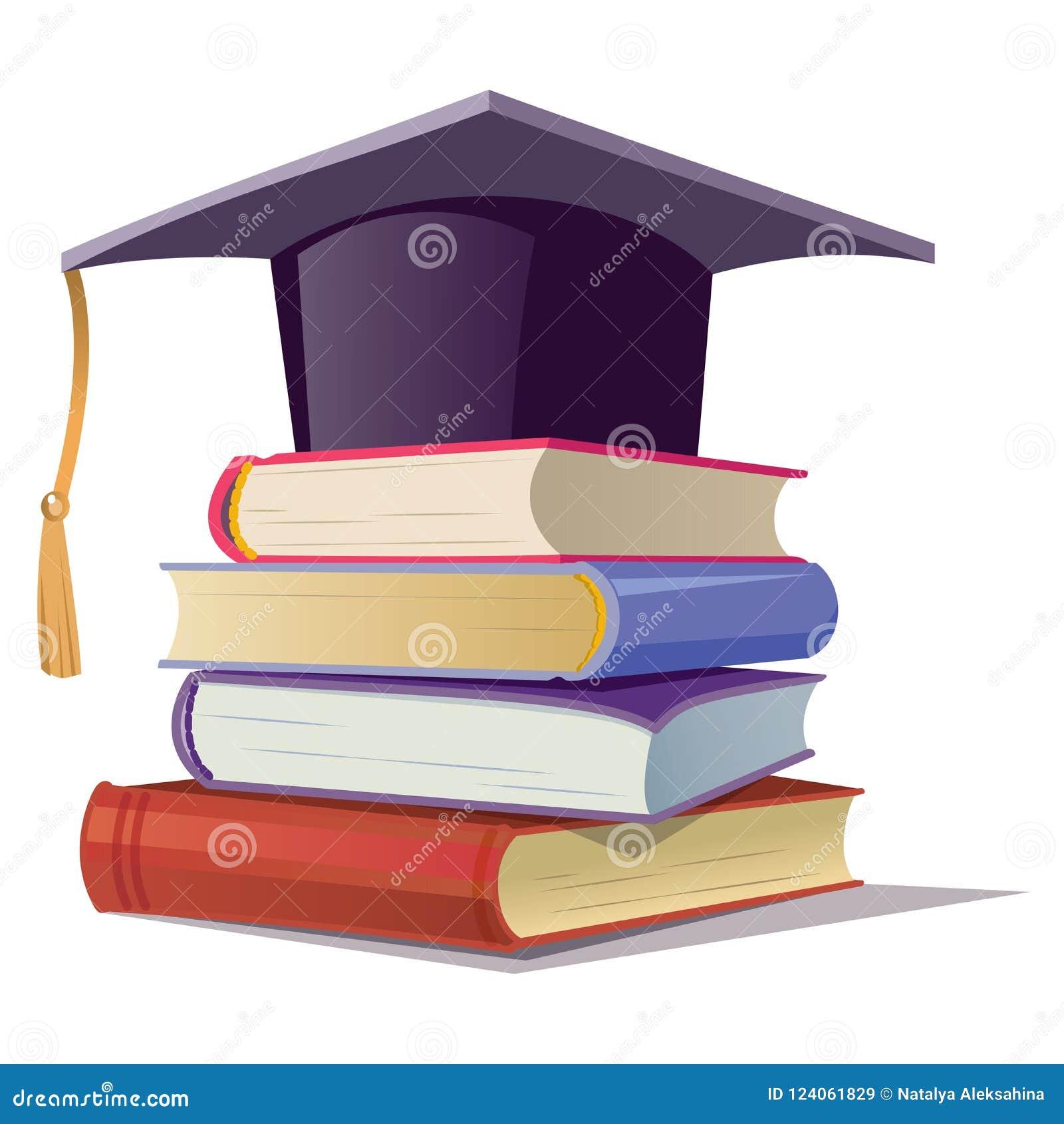 Avläggande av examenlock med böcker