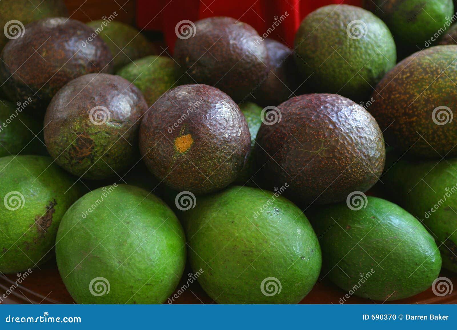 Avocado auf Bildschirmanzeige