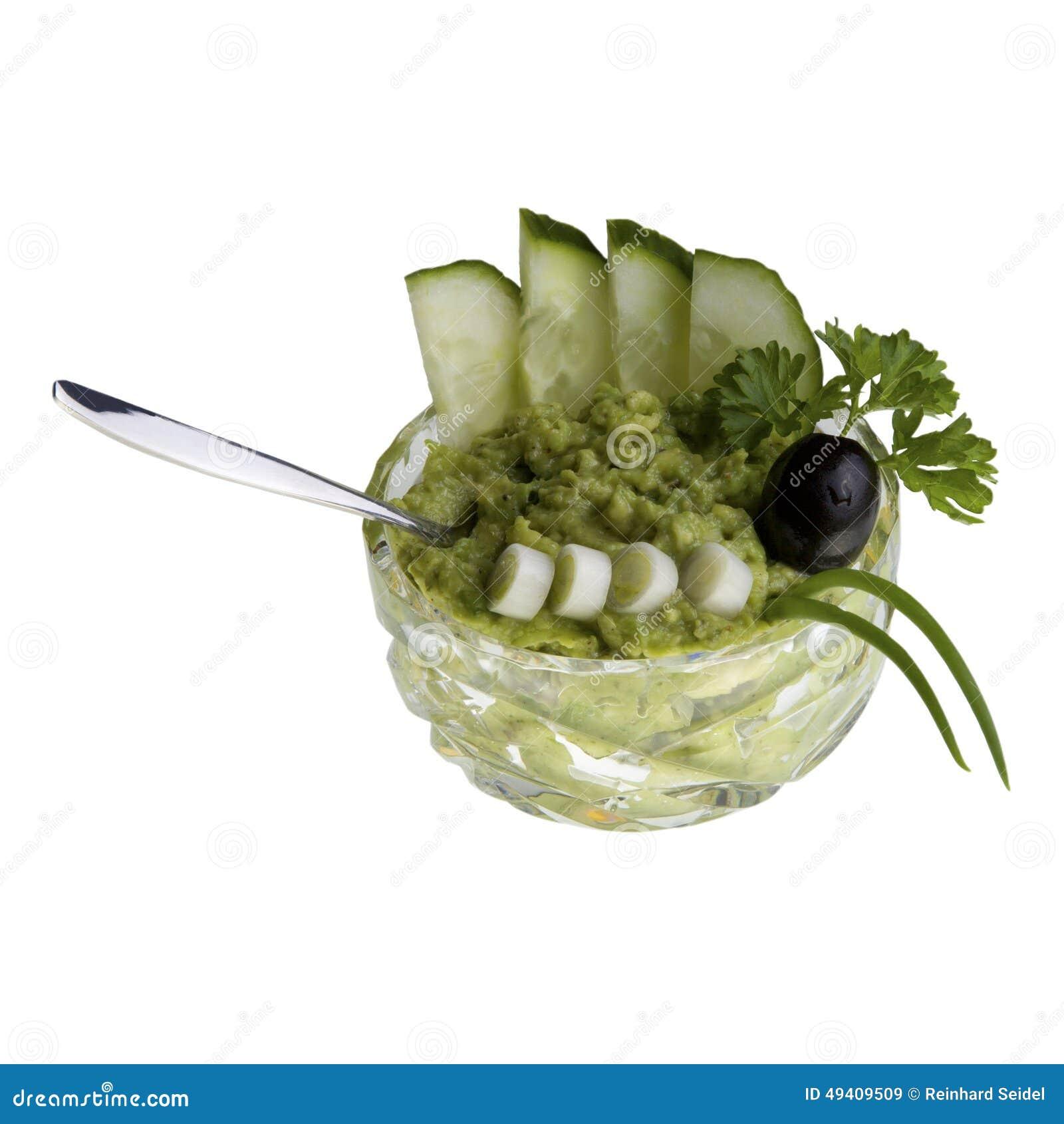 Download Avocado-Creme In Der Cristalschüssel Stockbild - Bild von gemüse, dine: 49409509