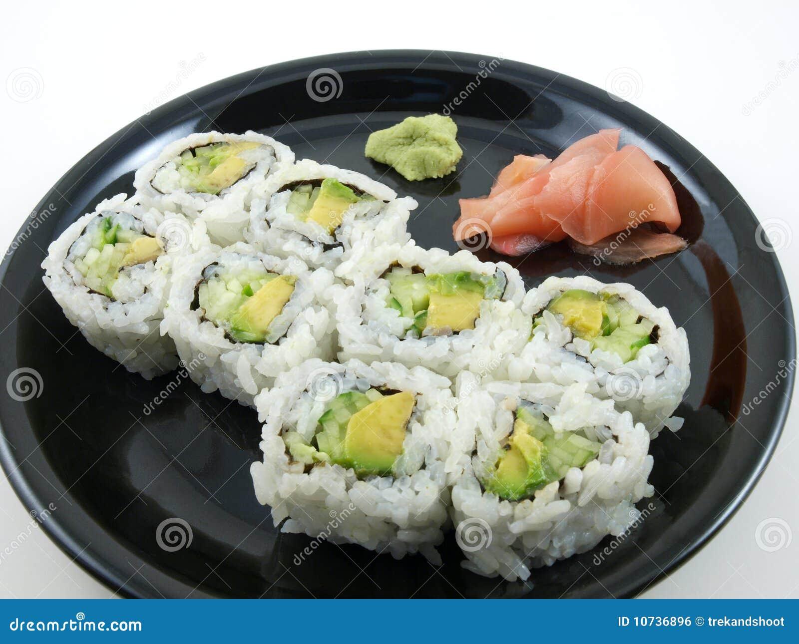Cucumber And Avocado Sushi Recipe — Dishmaps
