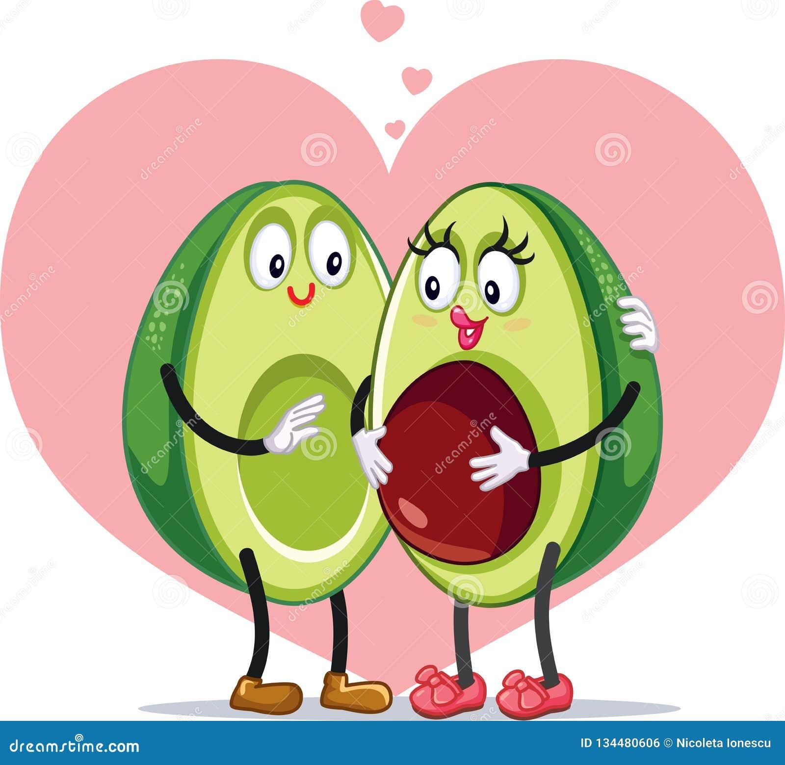 dcdb2e4c Avocado Family Pregnancy Announcement Funny Vector Design Stock ...