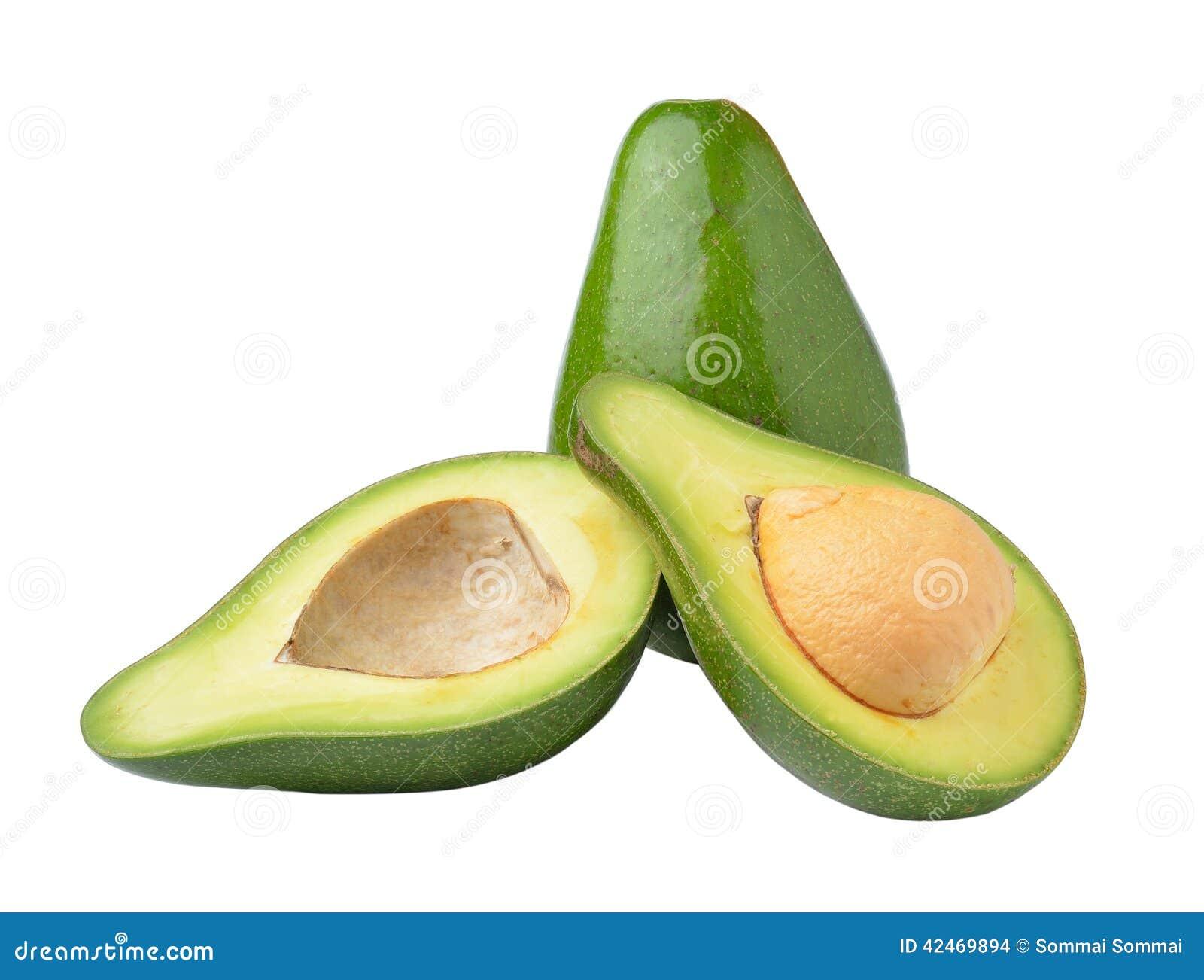 Avocado getrennt auf weißem Hintergrund