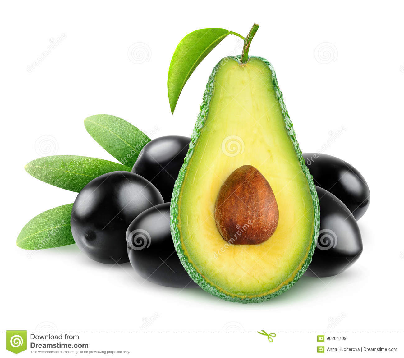 avocado and olives