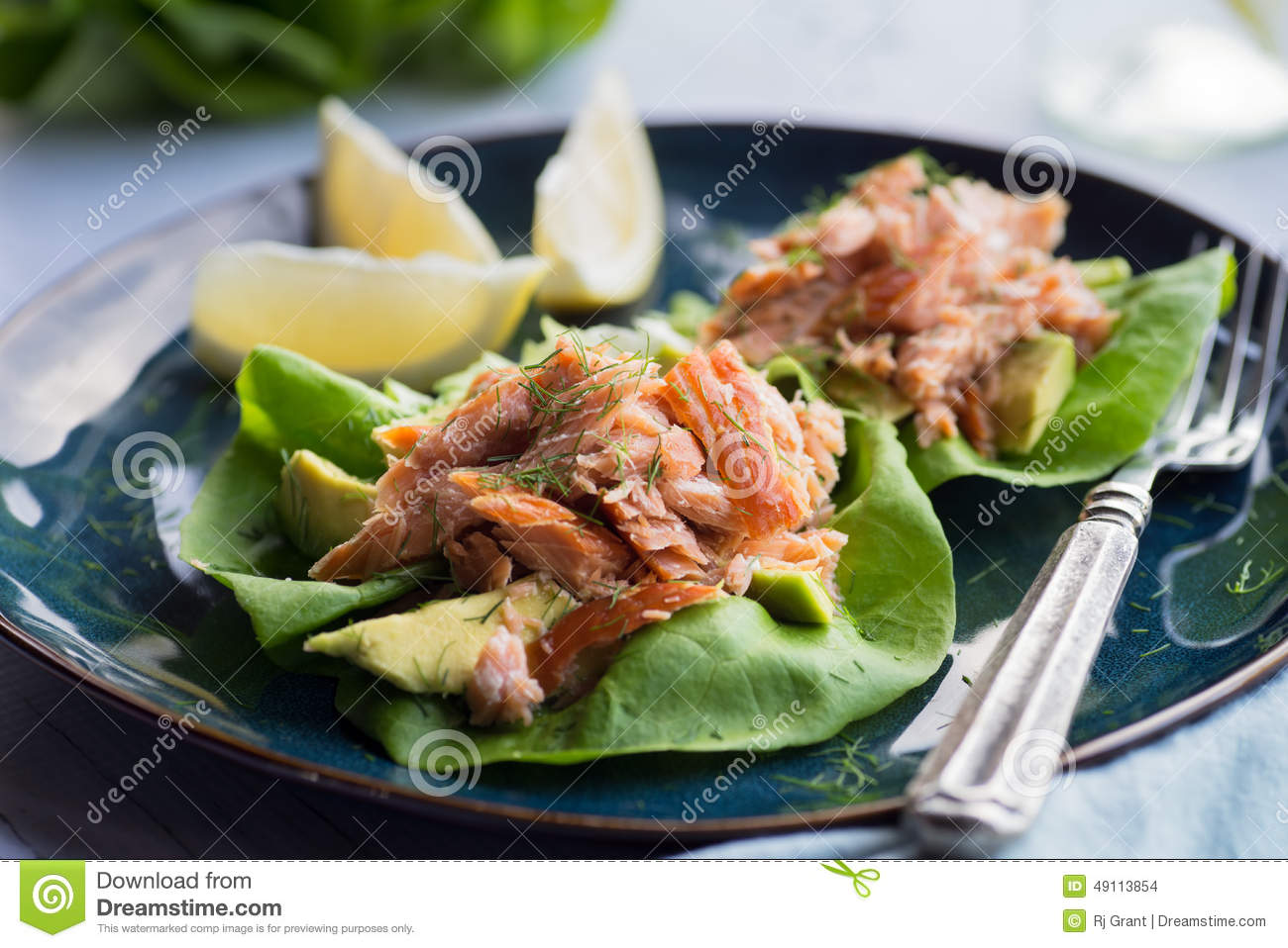 Buttered Crouton Salad With Avocado And Smoked Salmon ...