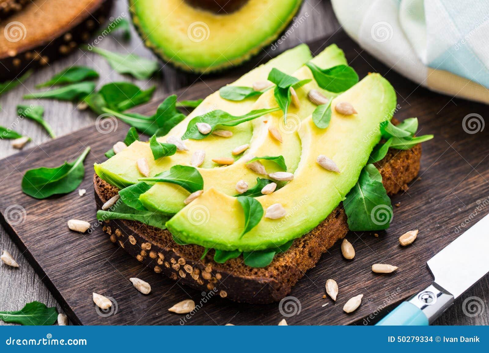 Avocado Sandwich Stock Photo - Image: 50279334