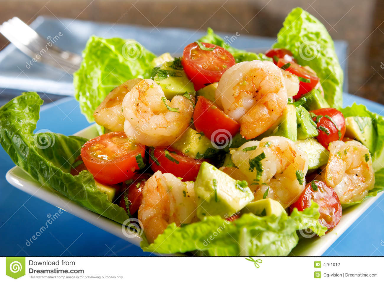Avocado Shrimp Salad Stock Photography - Image: 4761012