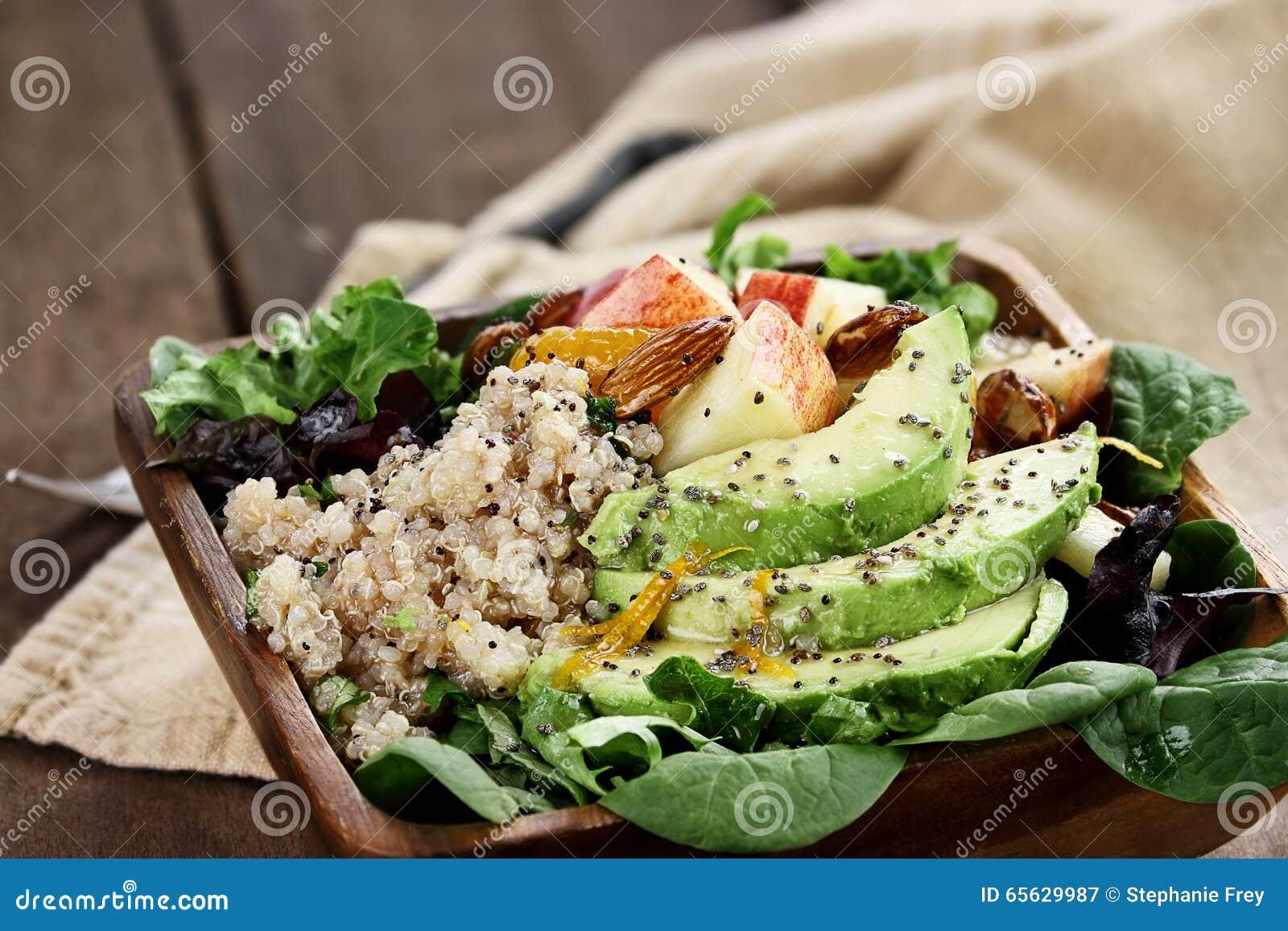 Avocat et salade d Apple