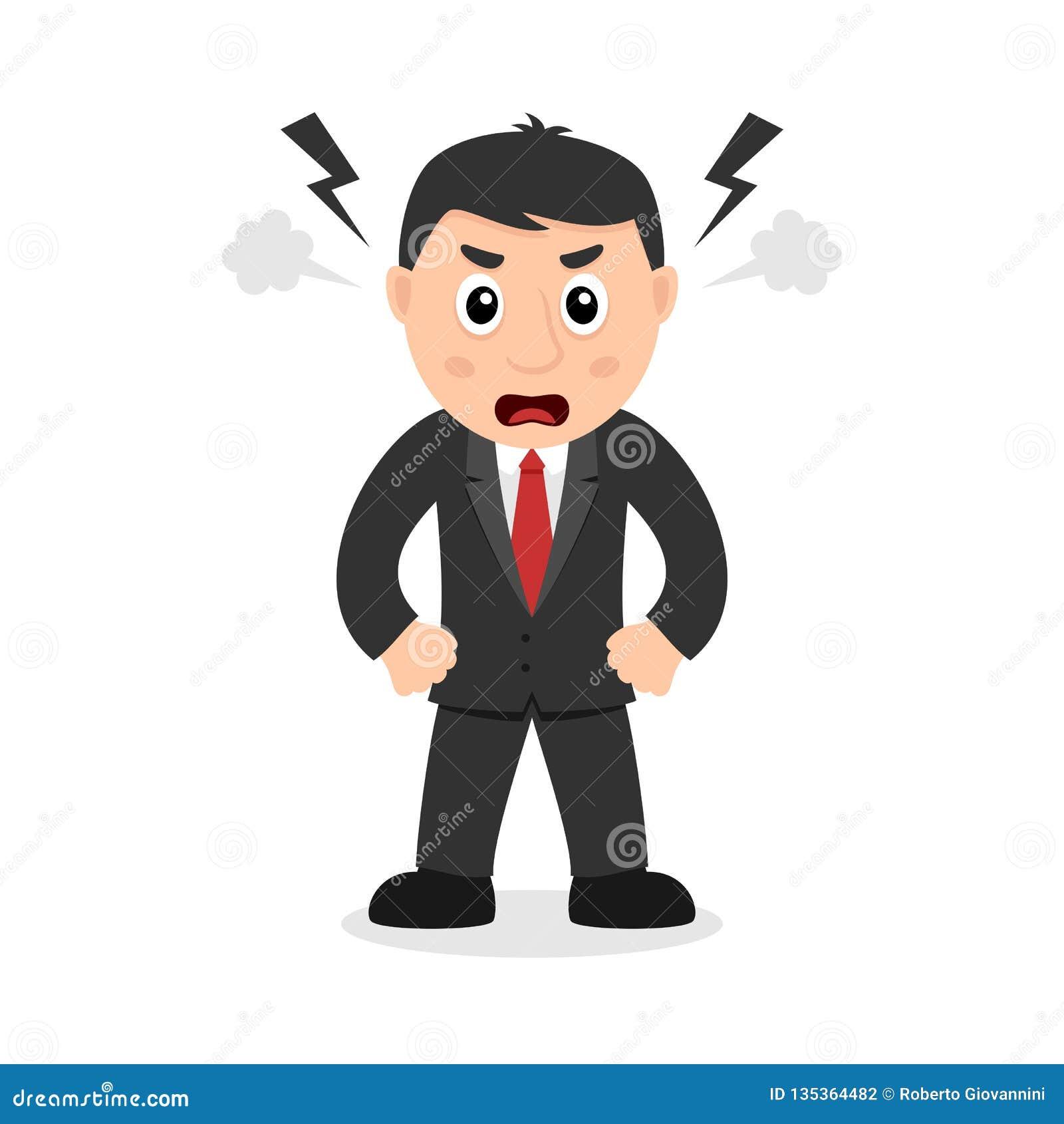 Avocat fâché Cartoon Character