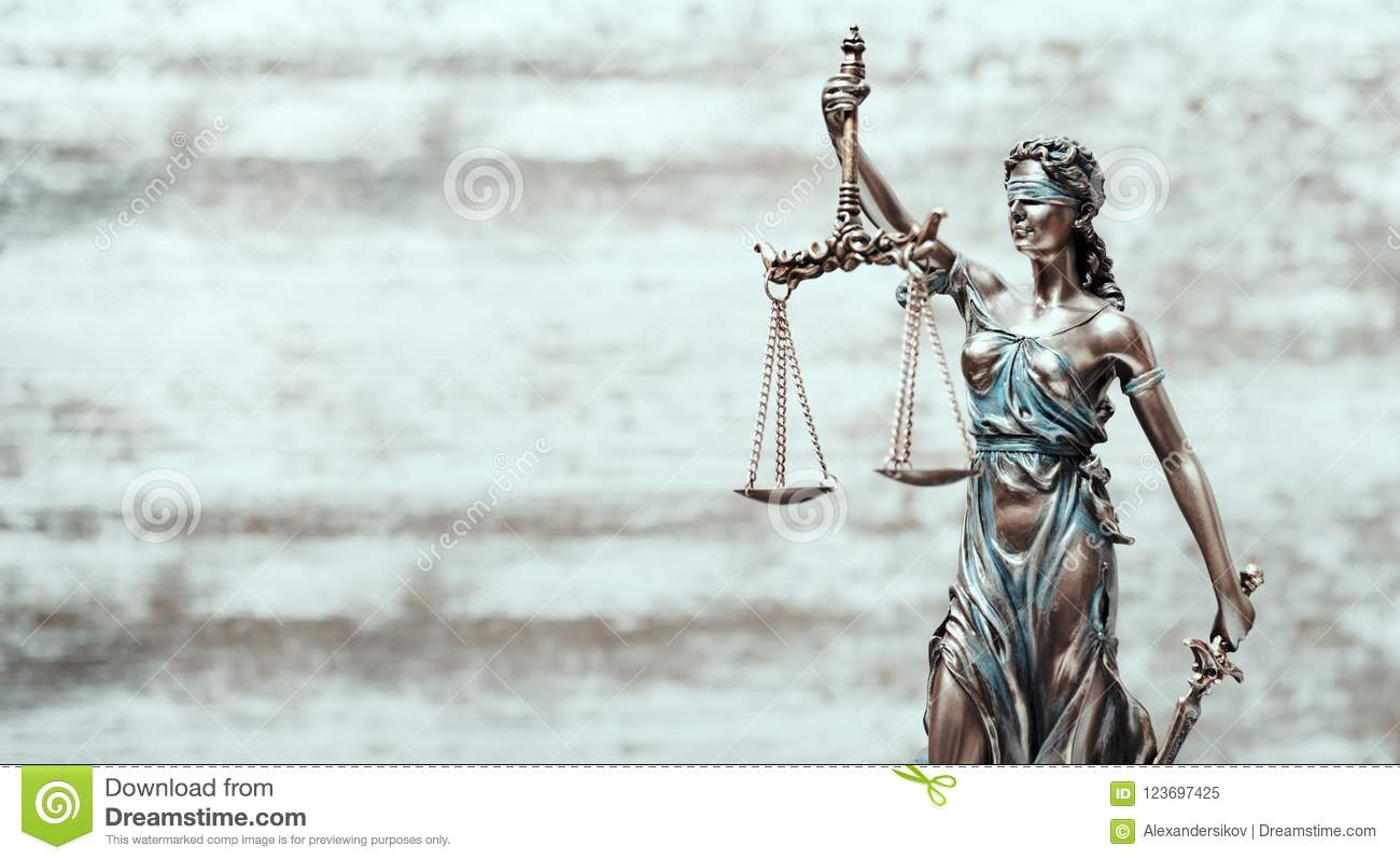 Avocate Business Concept de Themis Statue Justice Scales Law