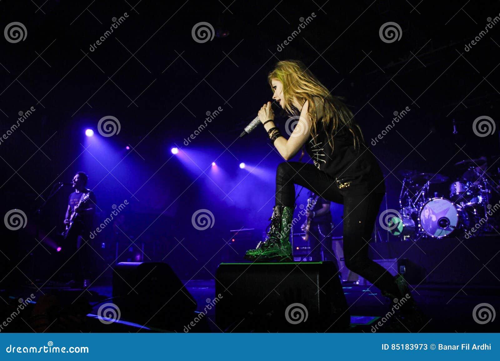 Avril Lavigne Performs In Jakarta