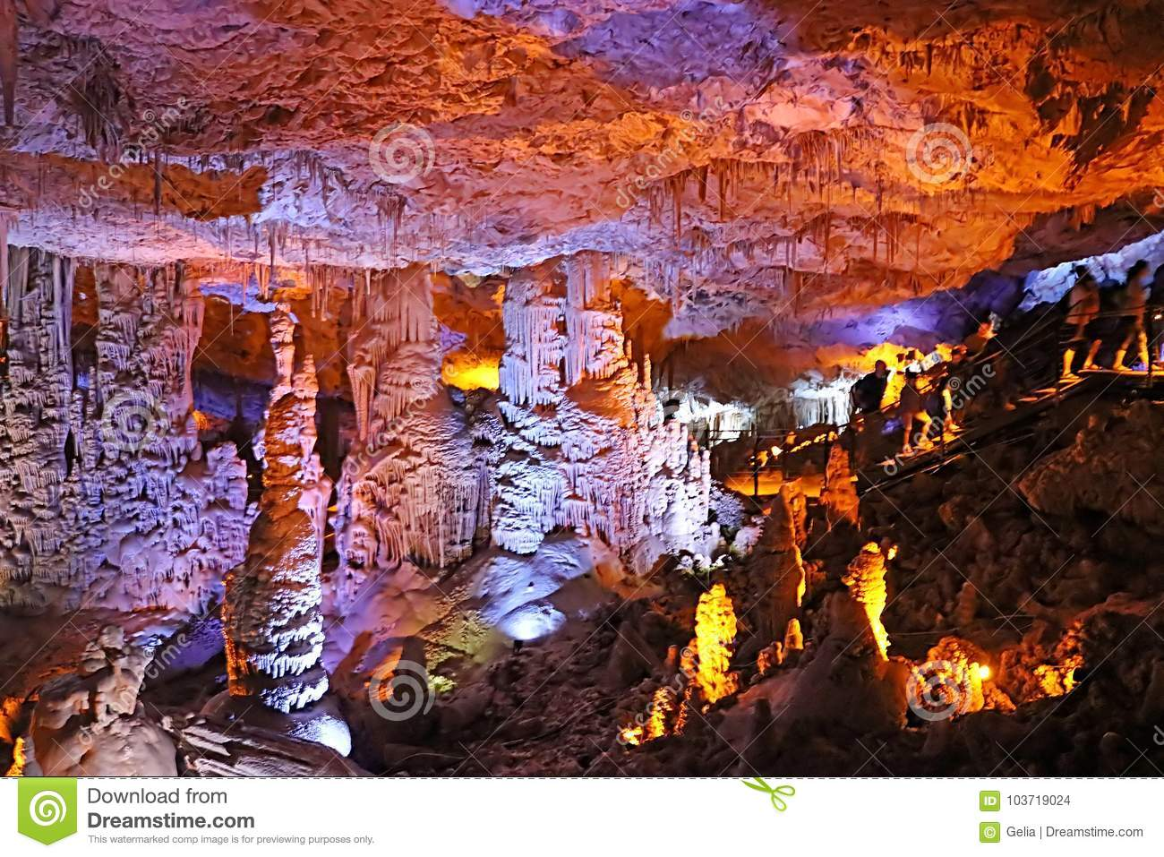 Avshalom Cave, also known as Soreq Cave, a large stalactites cave near Beit-Shemesh