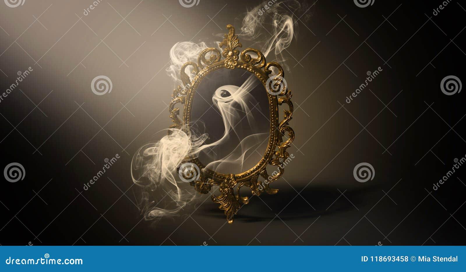 Avspegla magisk, för förmögenhet berätta och uppfyllelse av lust
