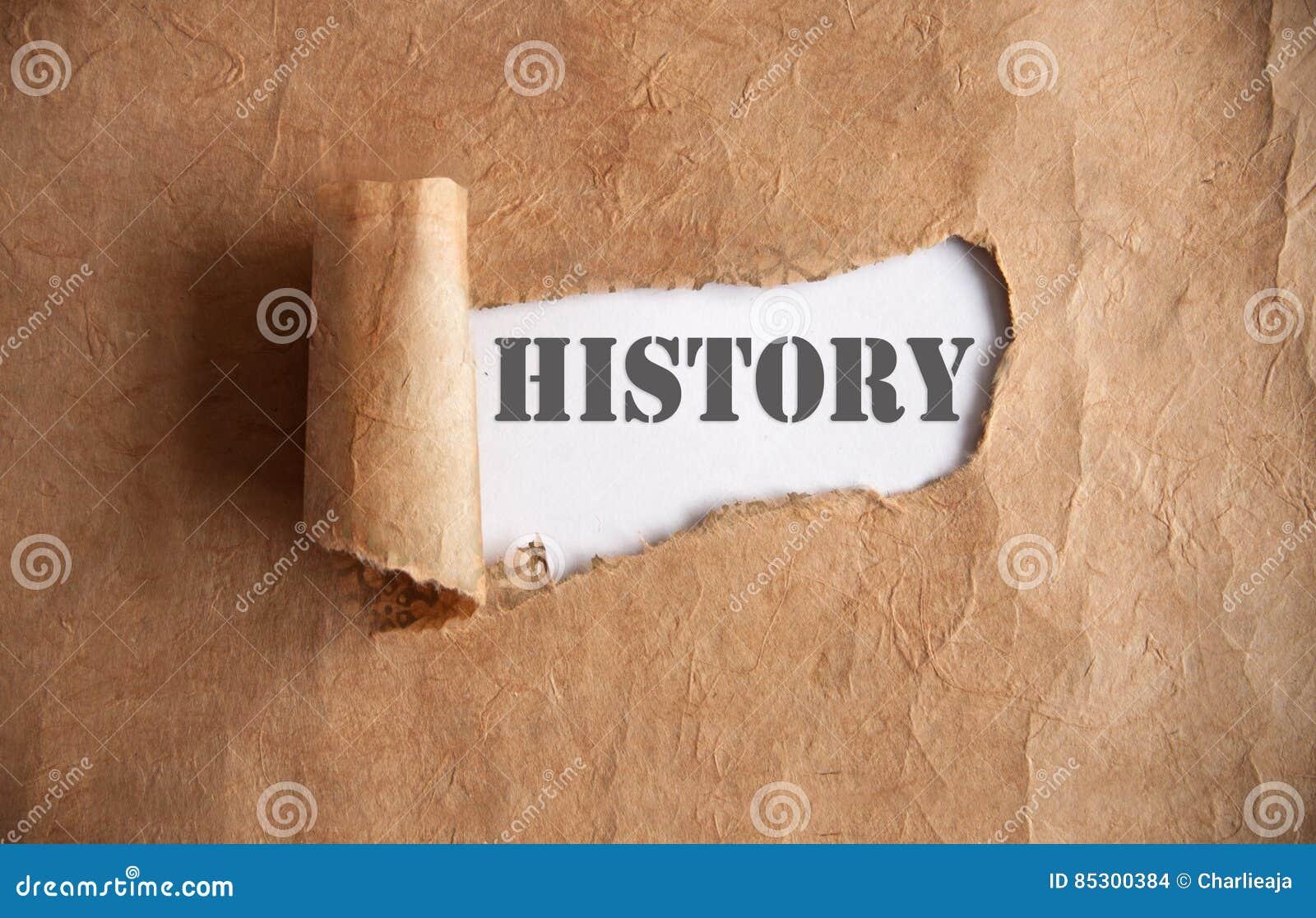 Avtäckning av historia
