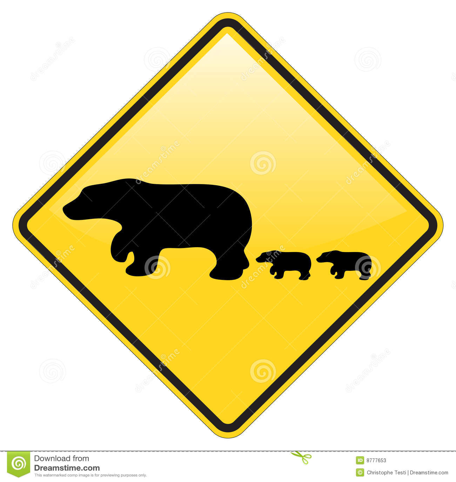 Avvertimento dell incrocio dell orso