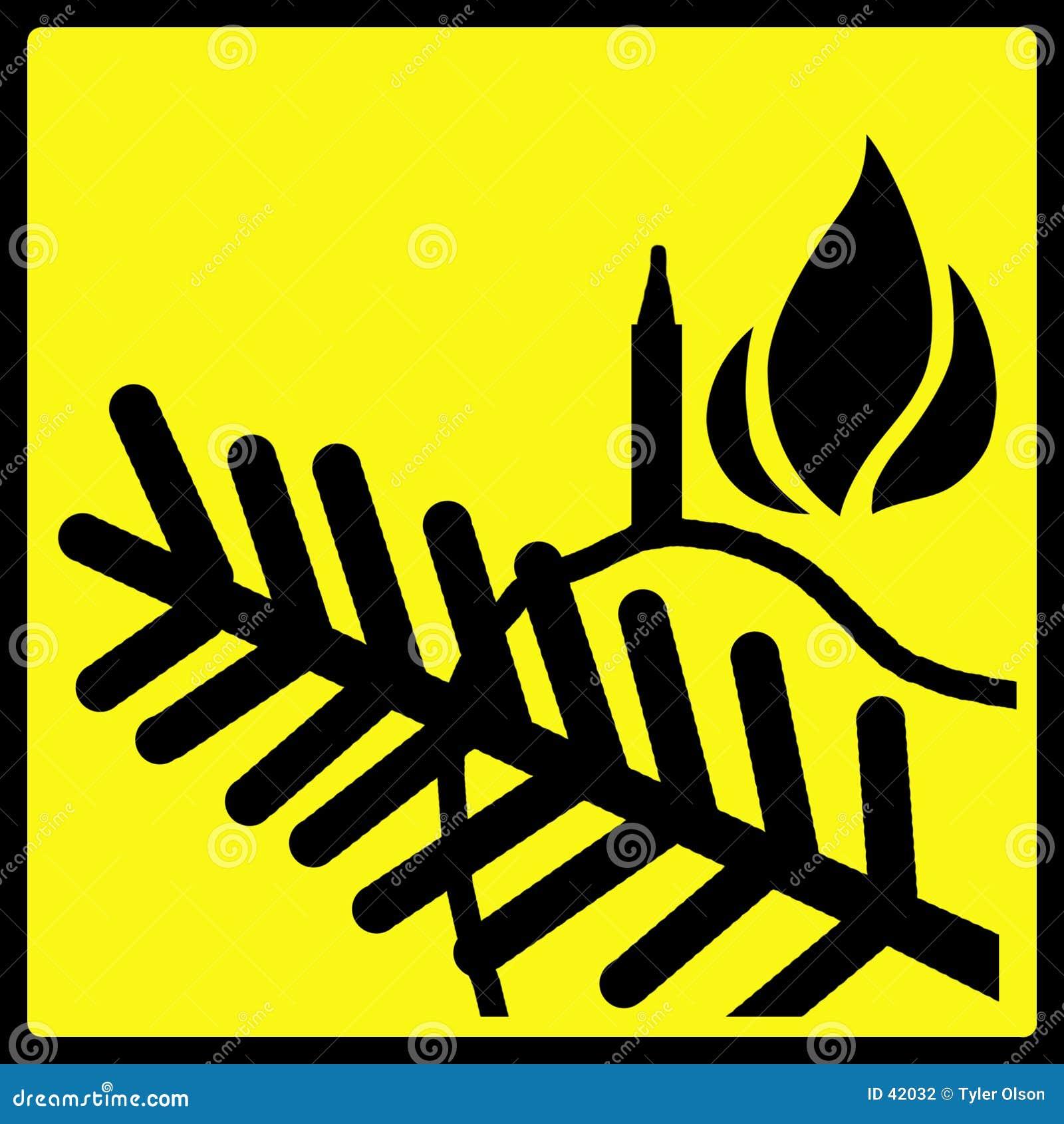 Avvertimento della fiamma dell albero di Natale