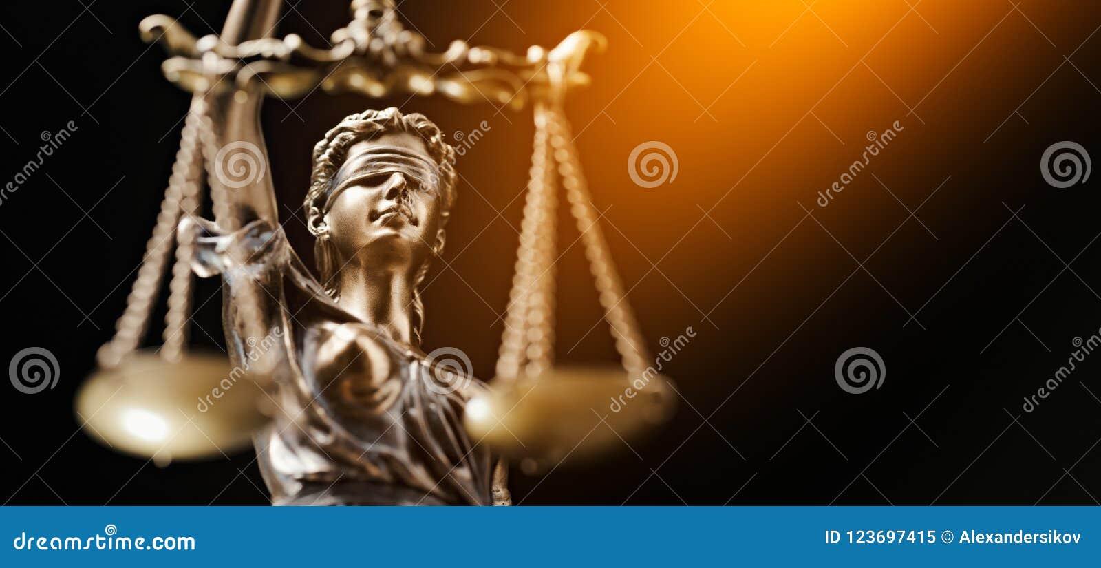 Avvocato Business Concept di Themis Statue Justice Scales Law