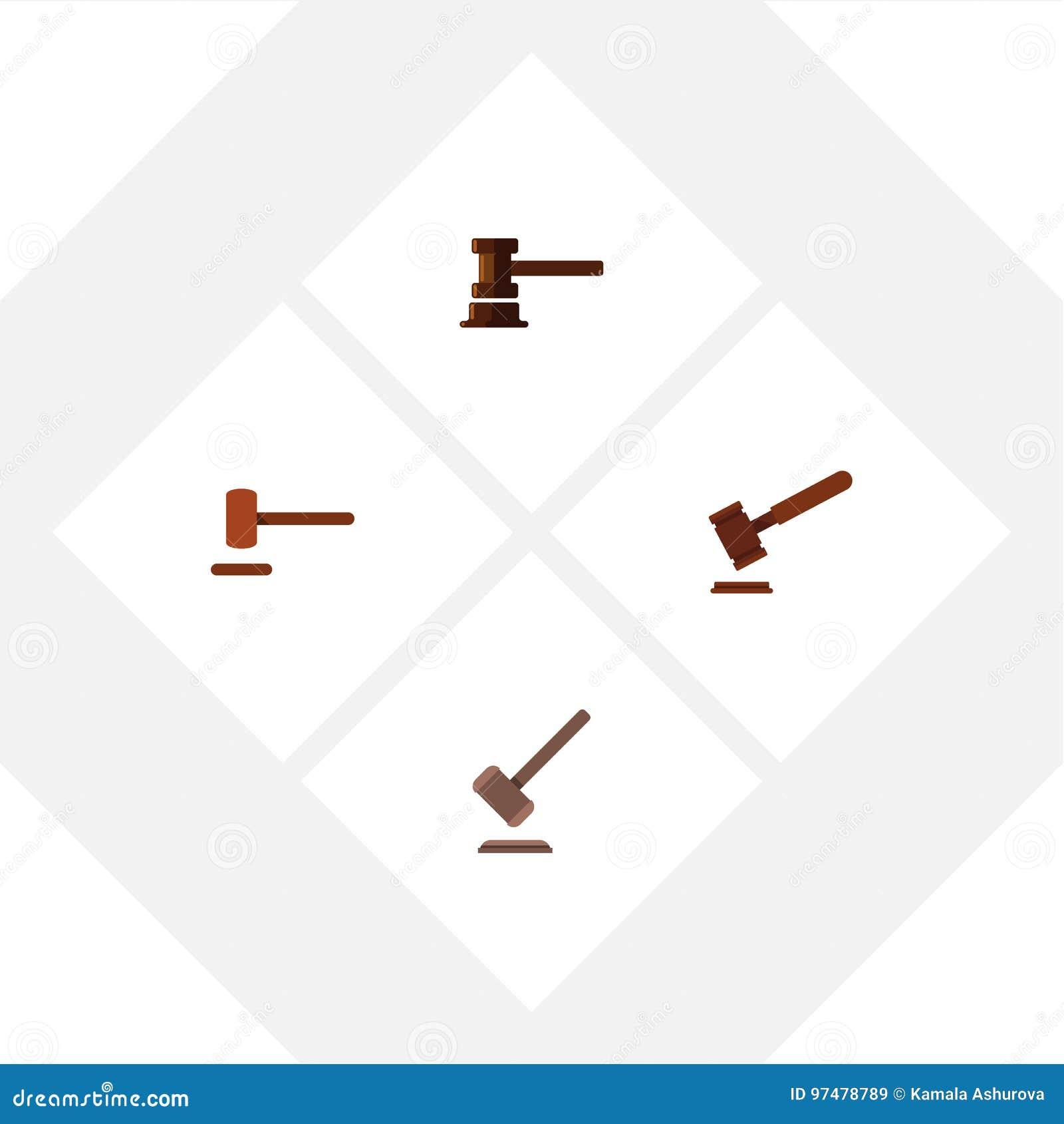 Avvocato piano Set Of Defense dell icona, giustizia, tribunale ed altri oggetti di vettore Inoltre comprende la difesa, la giusti