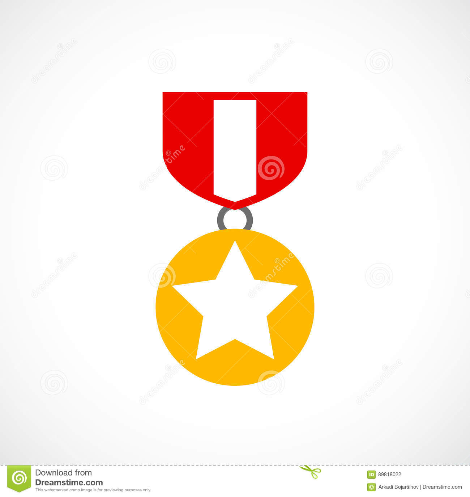 Award gold order icon
